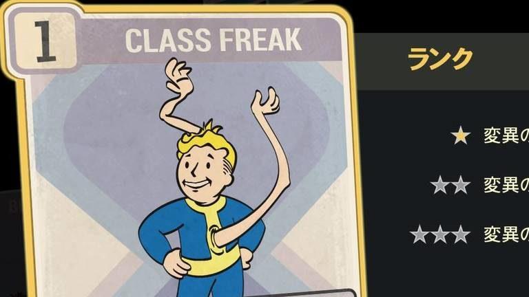 CLASS FREAK のランク別効果について【Fallout76】