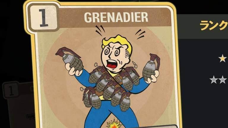 GRENADIER のランク別効果について【Fallout76】
