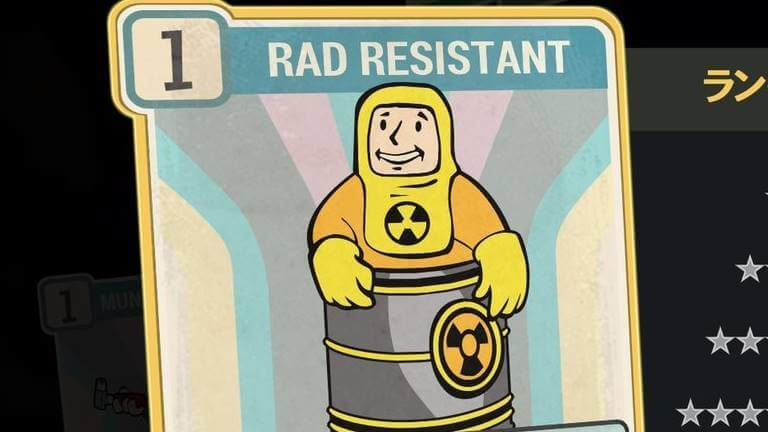 RAD RESISTANT のランク別効果について【Fallout76】