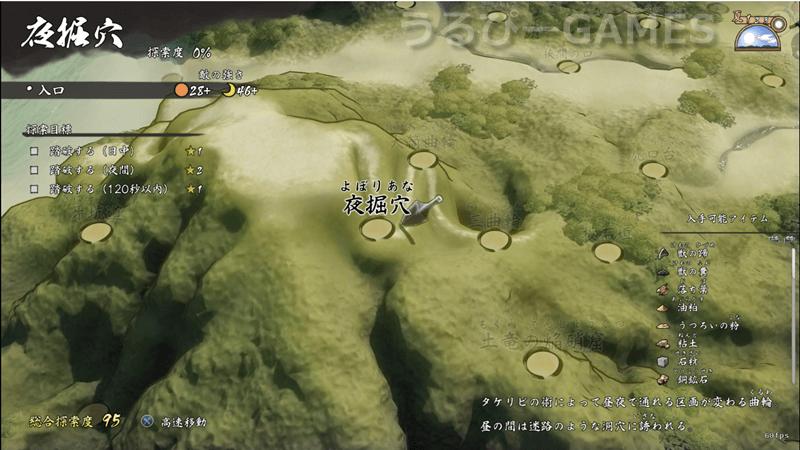 【天穂のサクナヒメ】夜掘穴の探索目標や入手可能アイテムなど